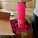 Розовый коврик для Йоги (AD-F01)